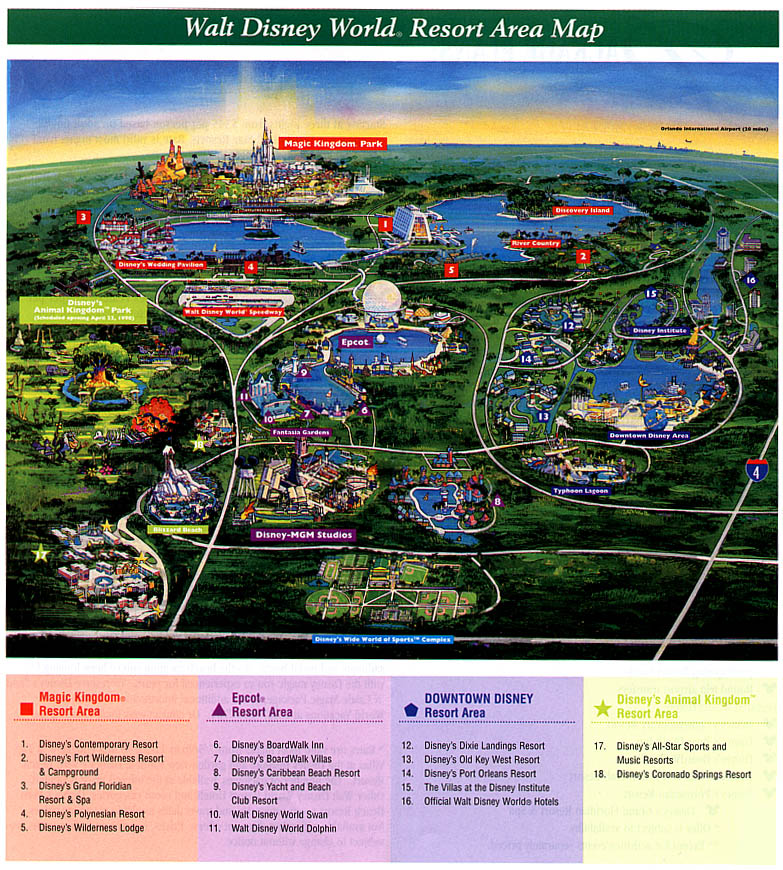 walt disney world map 2009. Disney Overview Map