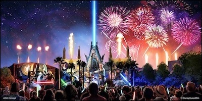 Disney's Hollywood Studios Star Wars Fireworks