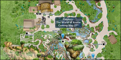 Pandora - World of Avatar Map