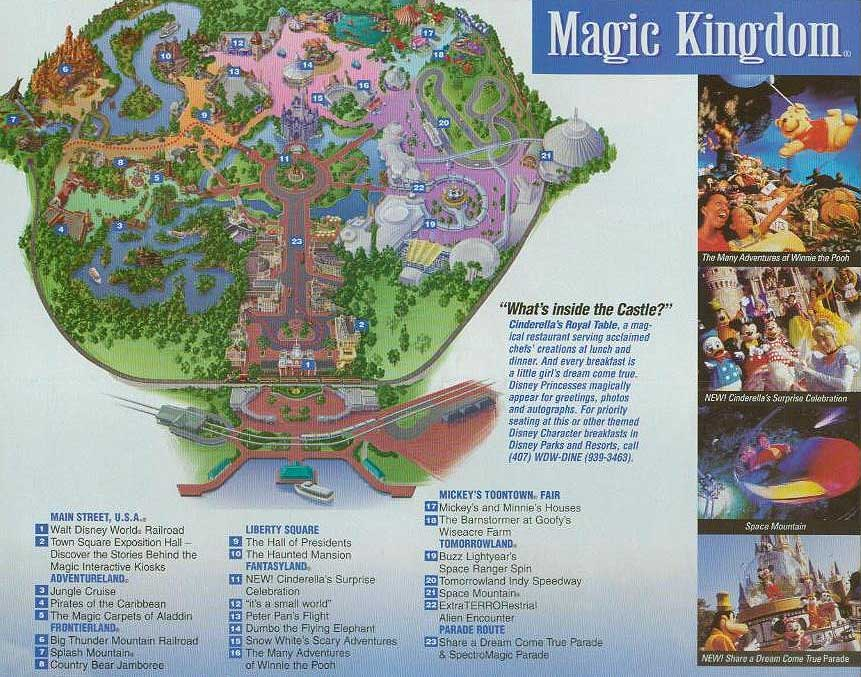 Magic Kingdom Map With New Fantasyland Map of The Magic Kingdom