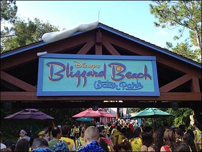 Blizzard Beach Sign